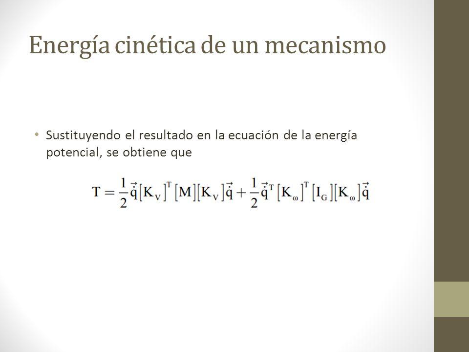 Energía cinética de un mecanismo