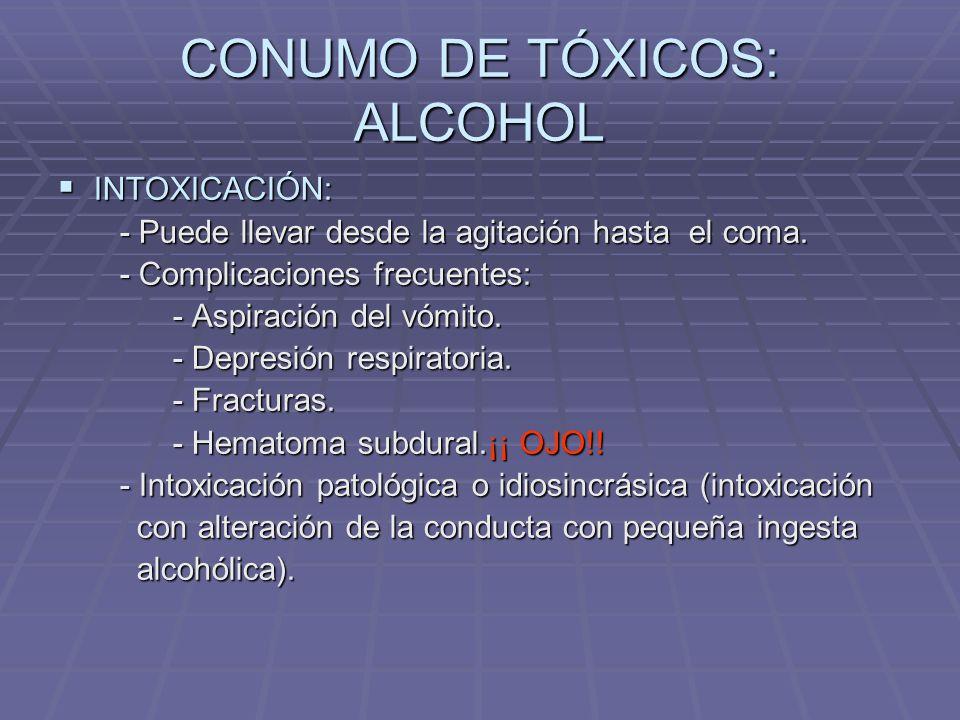 CONUMO DE TÓXICOS: ALCOHOL