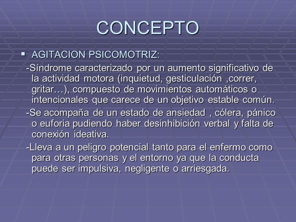 CONCEPTO AGITACION PSICOMOTRIZ: