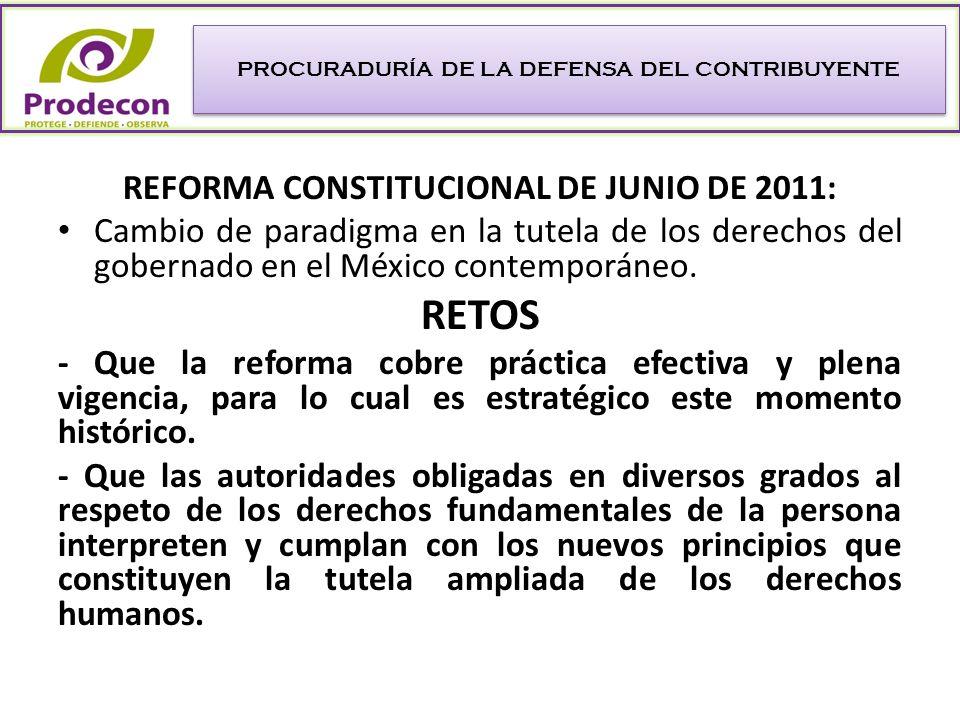REFORMA CONSTITUCIONAL DE JUNIO DE 2011: