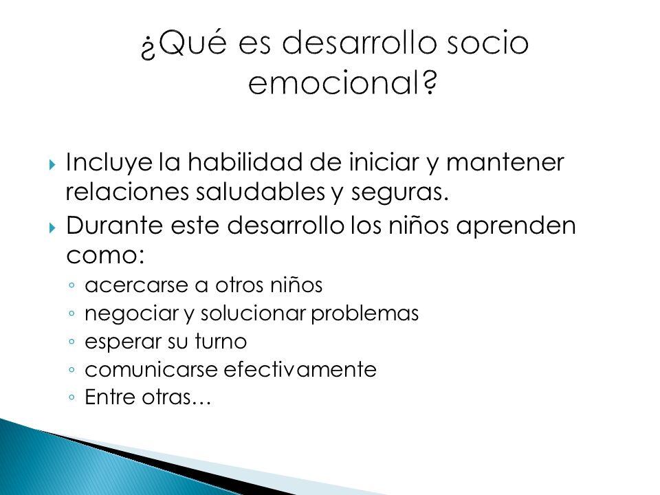 ¿Qué es desarrollo socio emocional