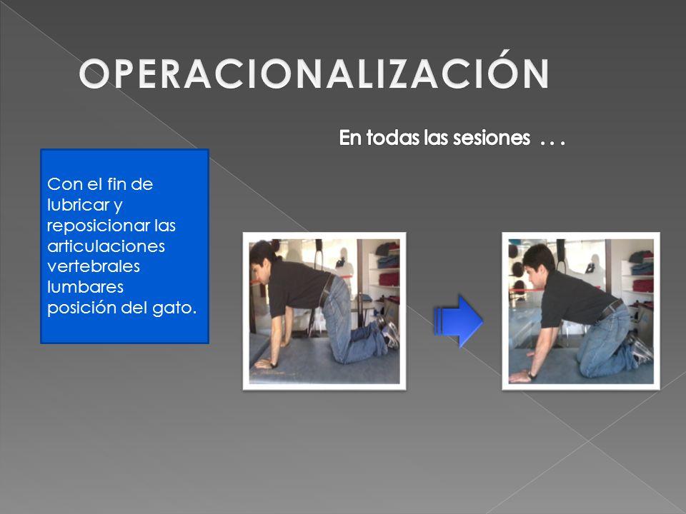 OPERACIONALIZACIÓN En todas las sesiones . . .