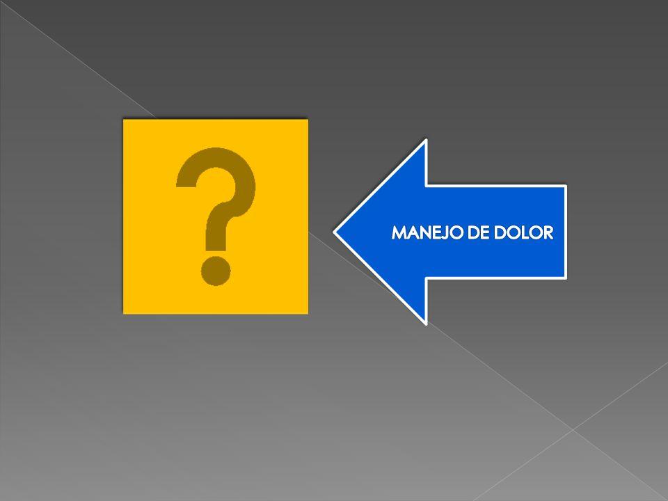 MANEJO DE DOLOR