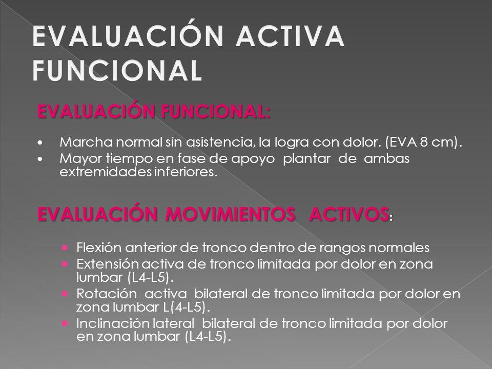 EVALUACIÓN ACTIVA FUNCIONAL