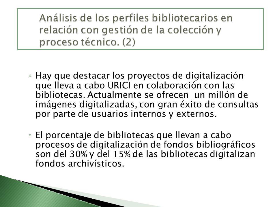 Análisis de los perfiles bibliotecarios en relación con gestión de la colección y proceso técnico. (2)