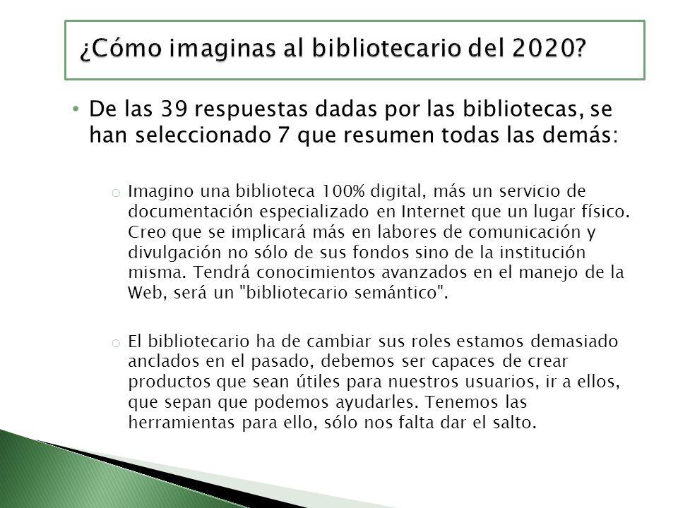 ¿Cómo imaginas al bibliotecario del 2020
