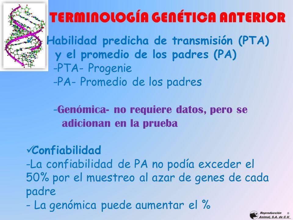 TERMINOLOGÍA GENÉTICA ANTERIOR