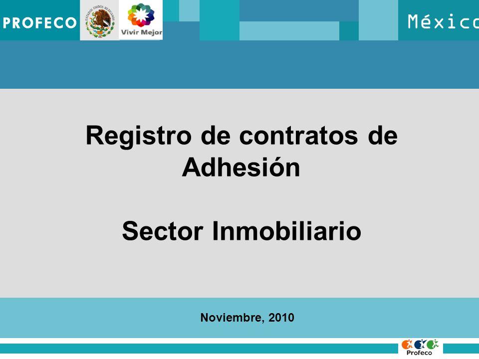 Registro de contratos de Adhesión