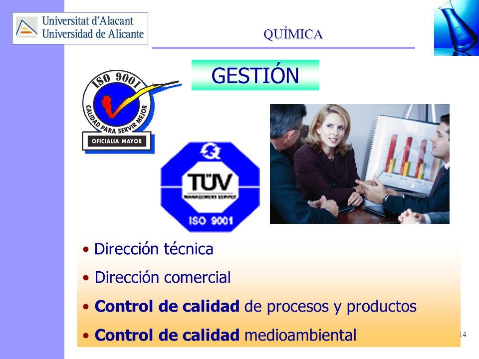 GESTIÓN Dirección técnica Dirección comercial