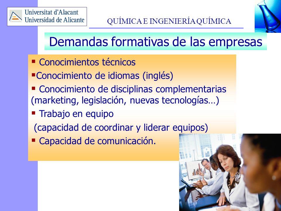 Demandas formativas de las empresas