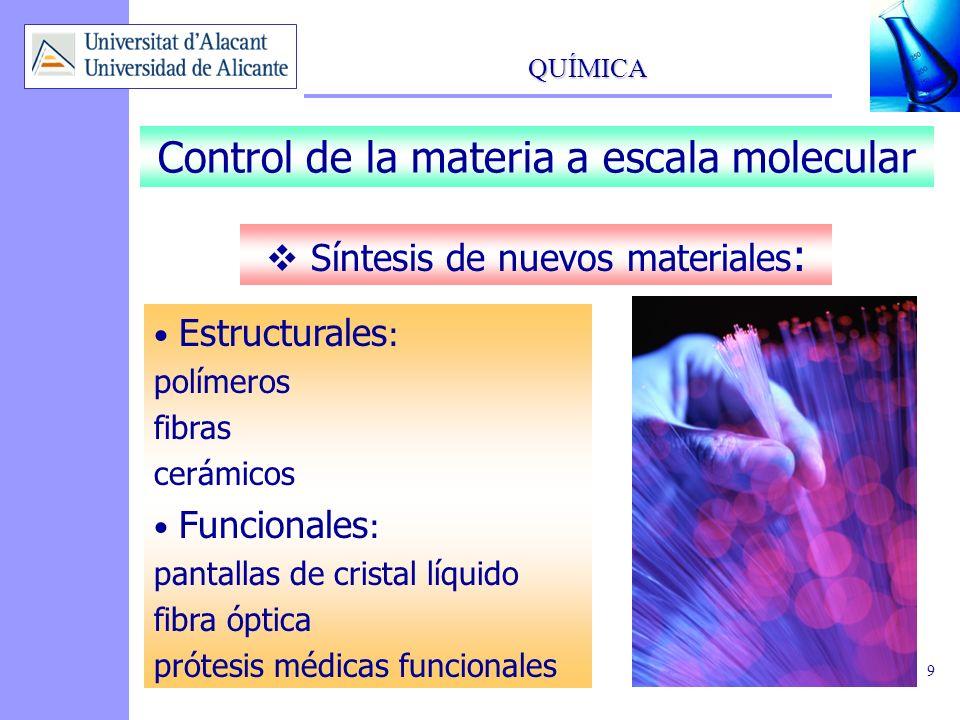 Control de la materia a escala molecular