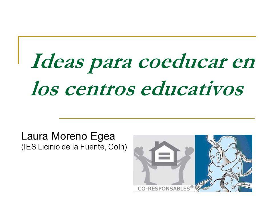 Ideas para coeducar en los centros educativos