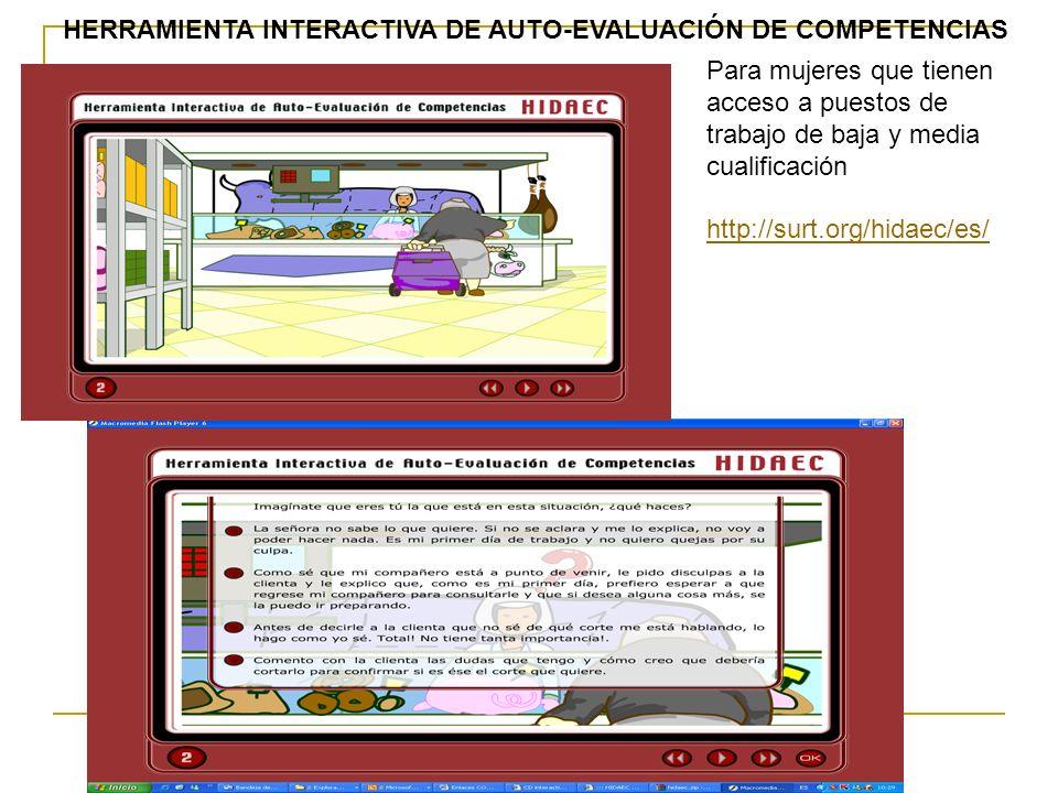 HERRAMIENTA INTERACTIVA DE AUTO-EVALUACIÓN DE COMPETENCIAS
