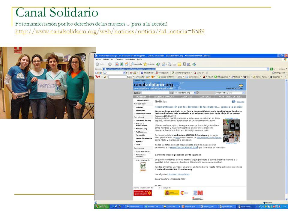 Canal Solidario Fotomanifestación por los derechos de las mujeres