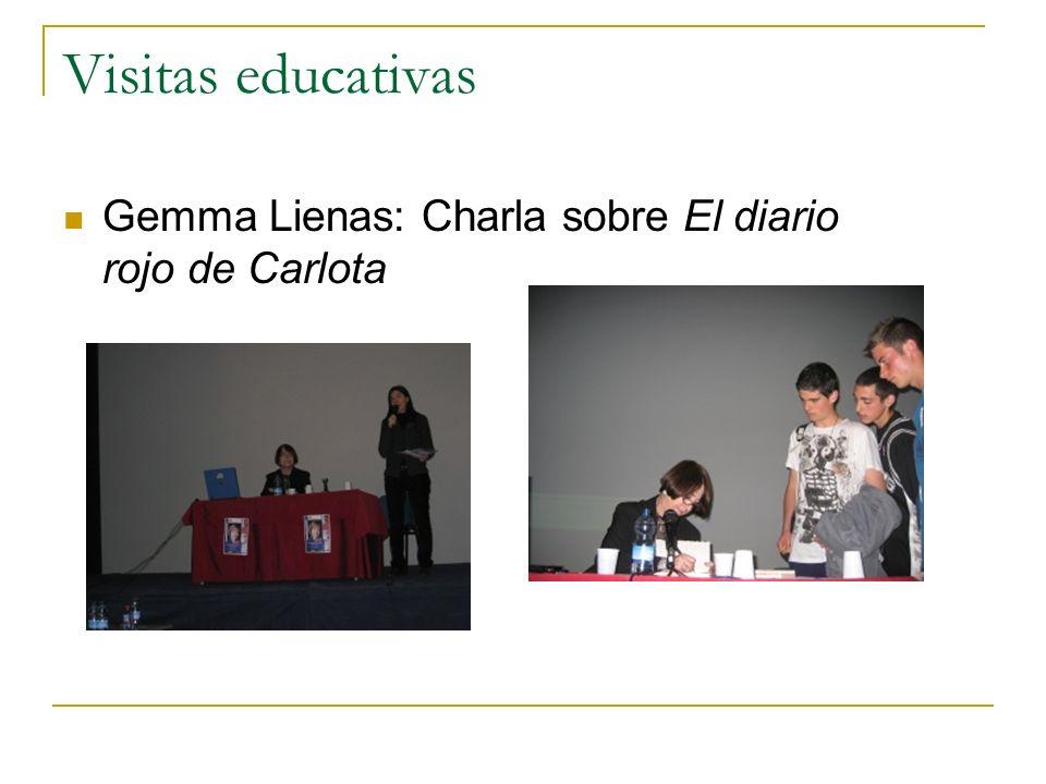Visitas educativas Gemma Lienas: Charla sobre El diario rojo de Carlota