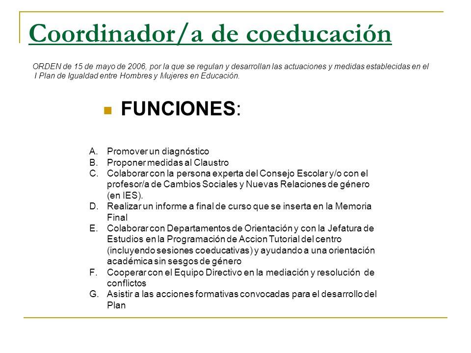 Coordinador/a de coeducación