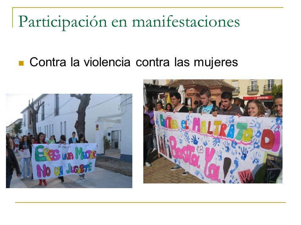 Participación en manifestaciones