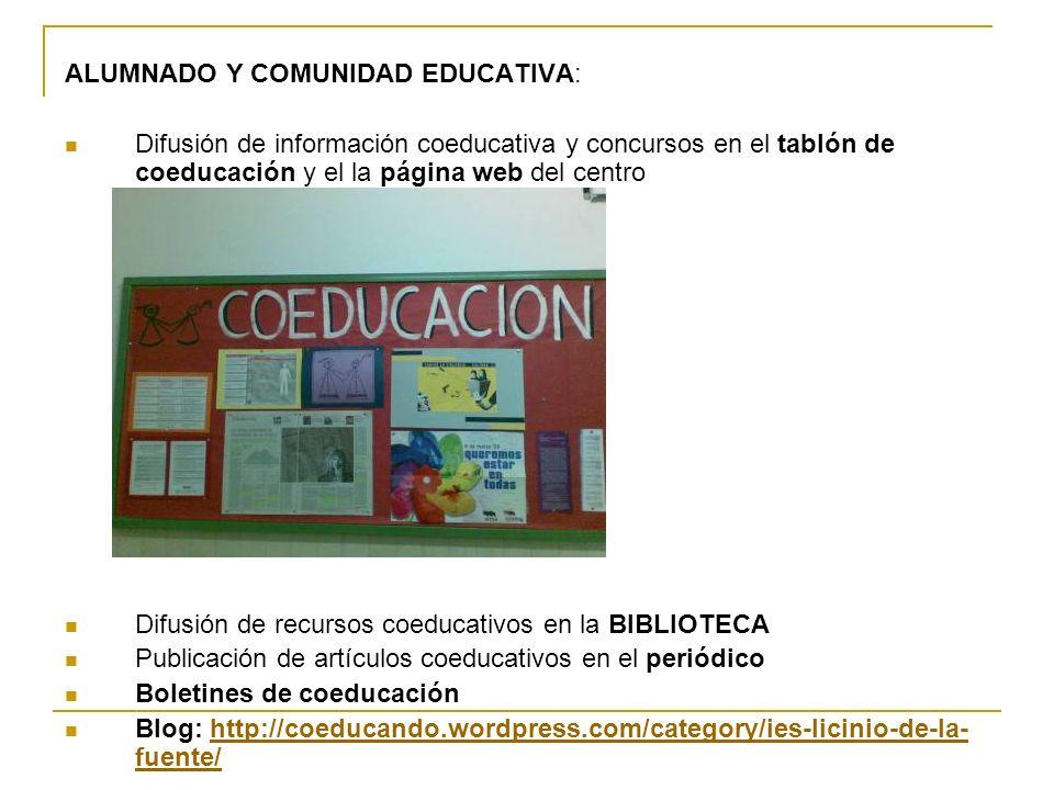 ALUMNADO Y COMUNIDAD EDUCATIVA: