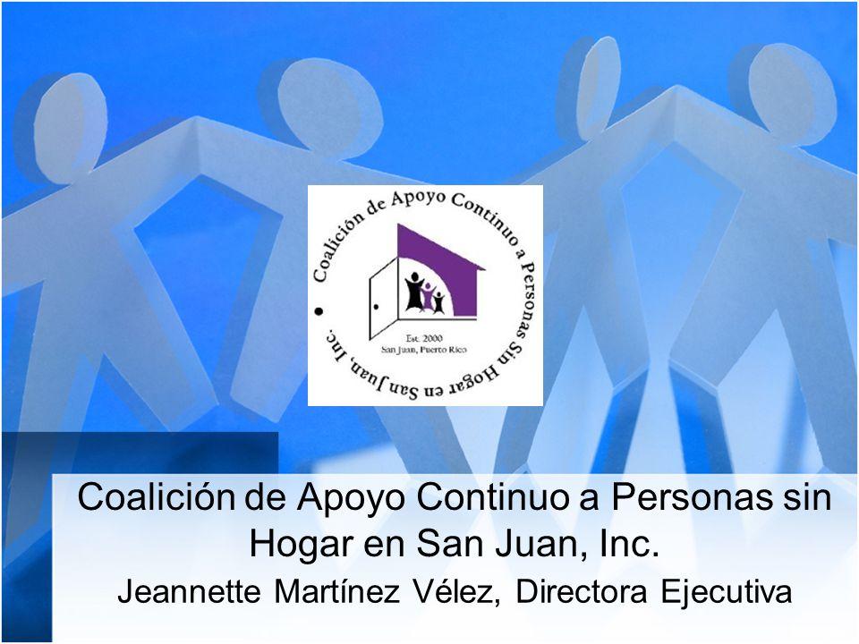 Coalición de Apoyo Continuo a Personas sin Hogar en San Juan, Inc.