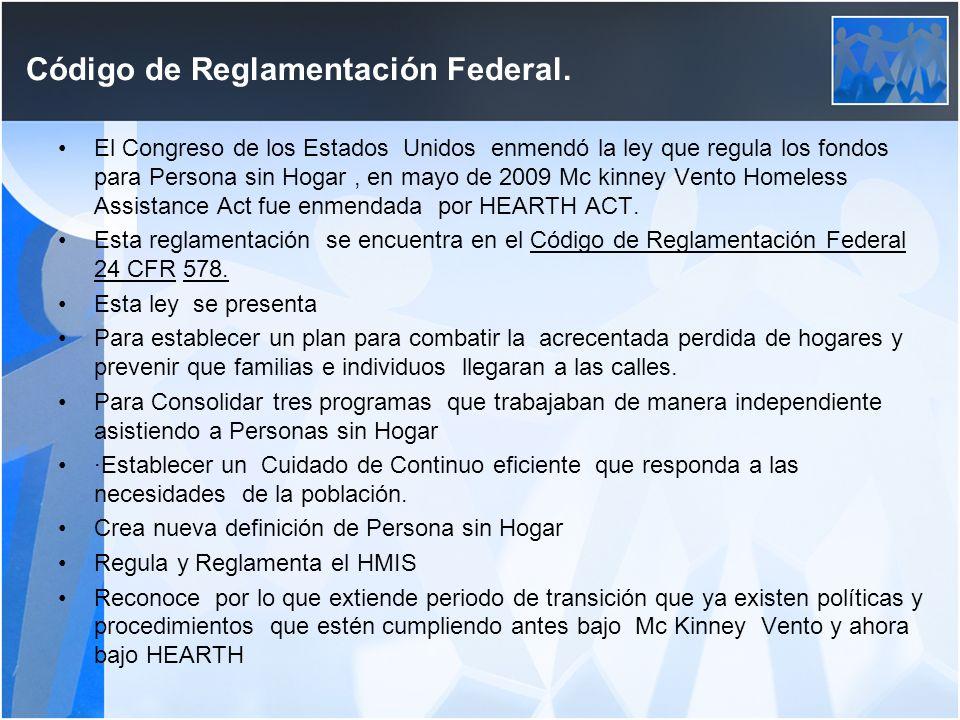 Código de Reglamentación Federal Código de Reglamentación Federal.