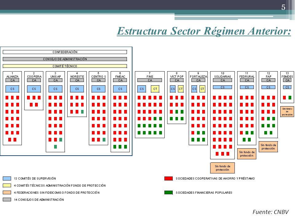 Estructura Sector Régimen Anterior:
