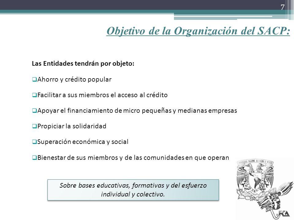 Objetivo de la Organización del SACP: