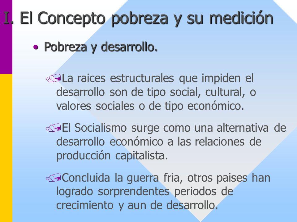 I. El Concepto pobreza y su medición