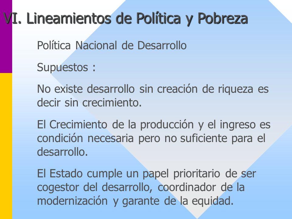 VI. Lineamientos de Política y Pobreza