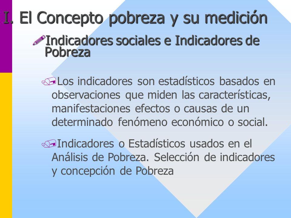 Indicadores sociales e Indicadores de Pobreza