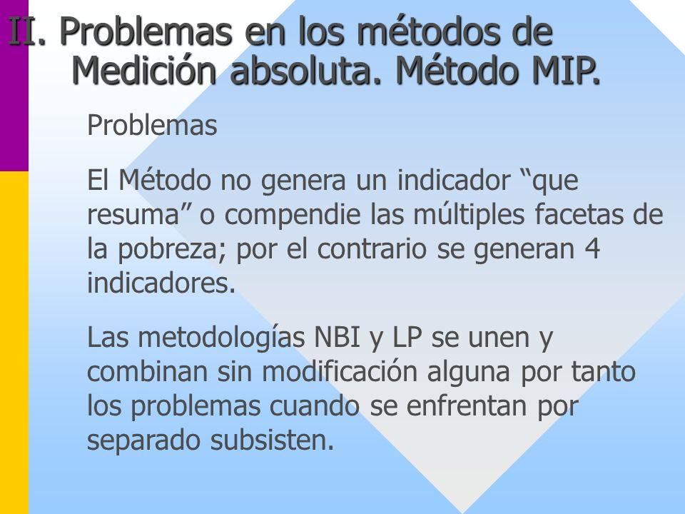 II. Problemas en los métodos de Medición absoluta. Método MIP.