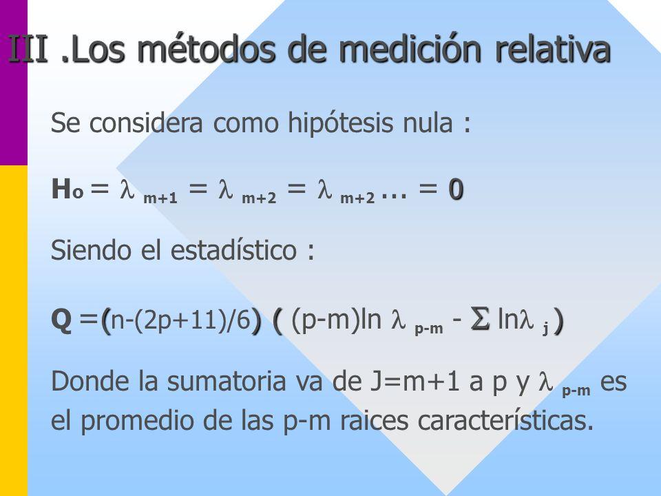 III .Los métodos de medición relativa