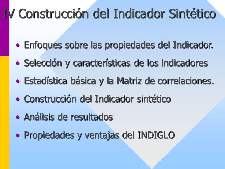IV Construcción del Indicador Sintético