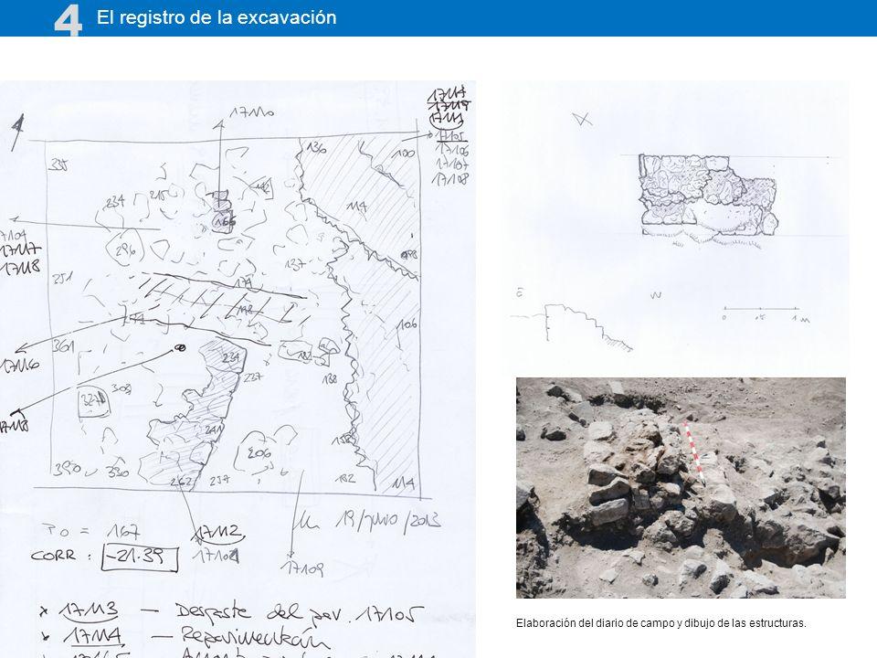 4 El registro de la excavación