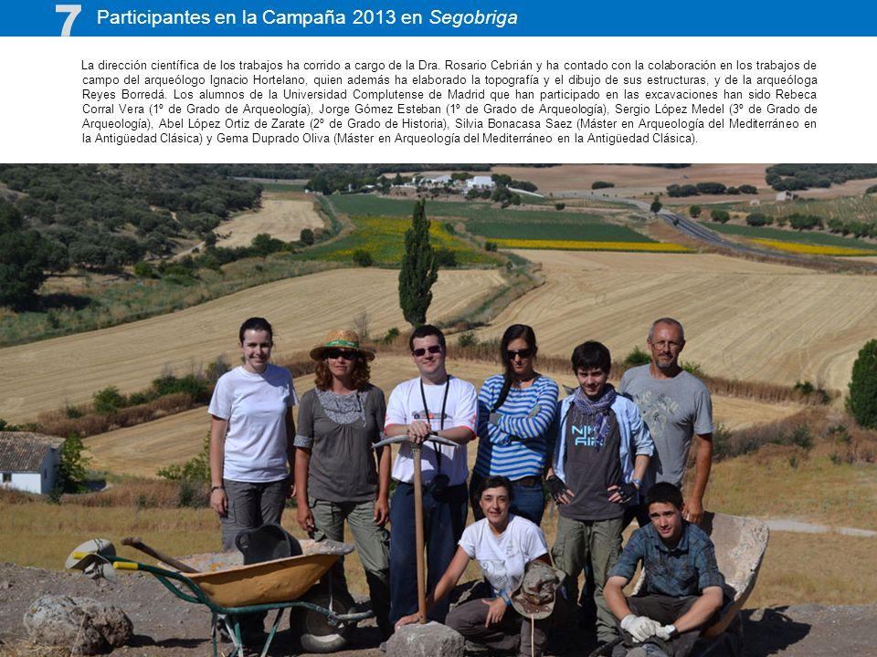 7 Participantes en la Campaña 2013 en Segobriga