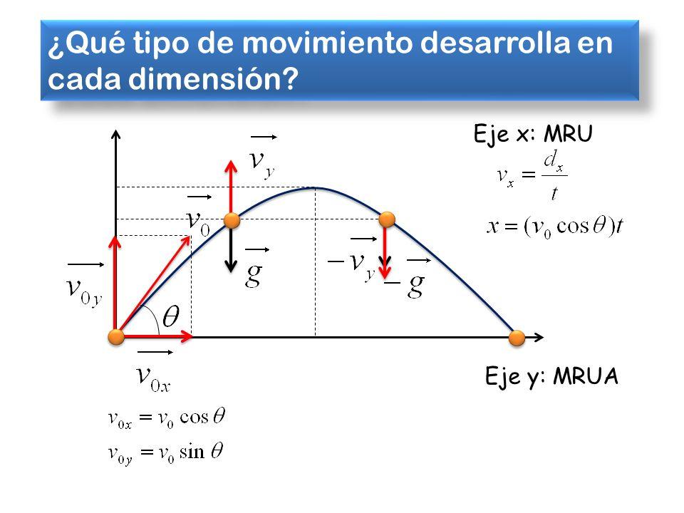 ¿Qué tipo de movimiento desarrolla en cada dimensión