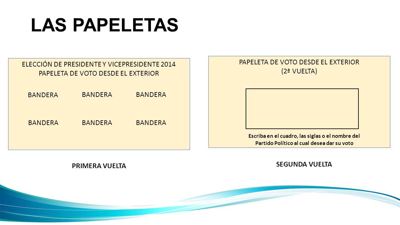 LAS PAPELETAS PAPELETA DE VOTO DESDE EL EXTERIOR