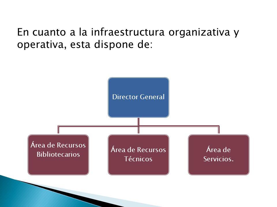 En cuanto a la infraestructura organizativa y operativa, esta dispone de: