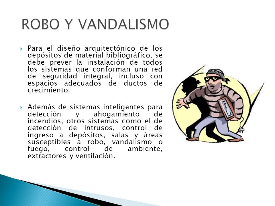 ROBO Y VANDALISMO