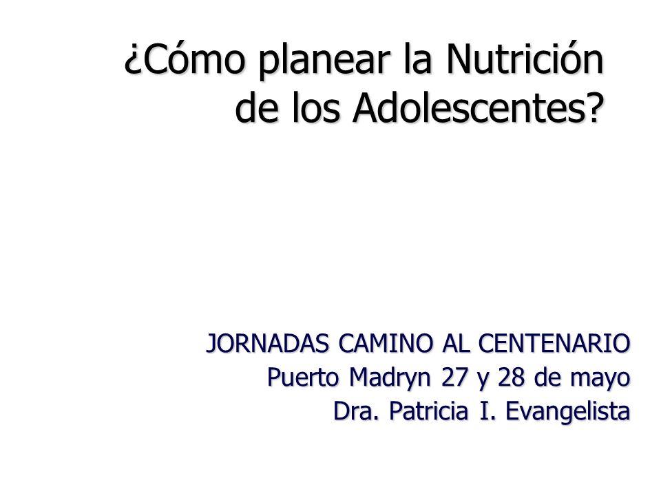 ¿Cómo planear la Nutrición de los Adolescentes