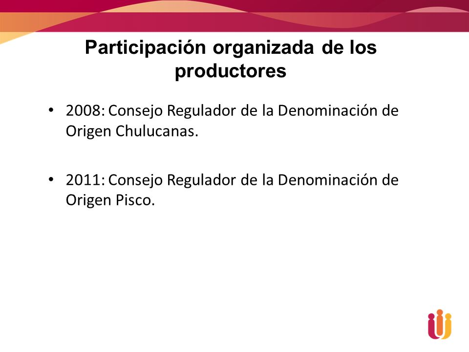 Participación organizada de los productores