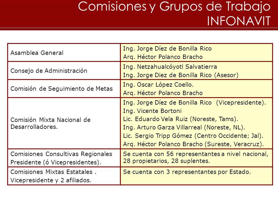 Comisiones y Grupos de Trabajo INFONAVIT