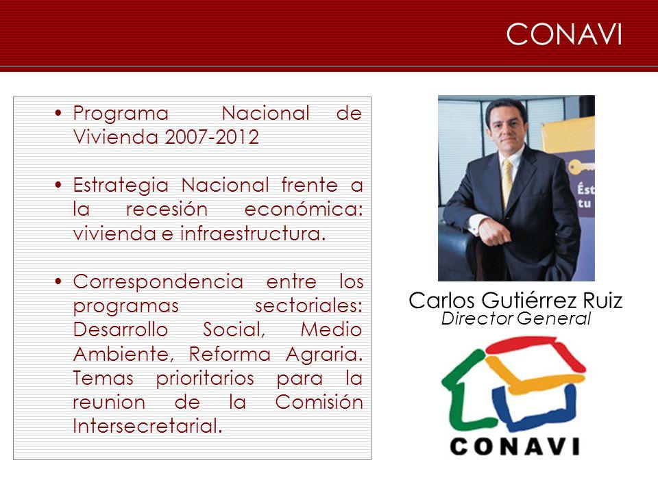 CONAVI Carlos Gutiérrez Ruiz Programa Nacional de Vivienda 2007-2012