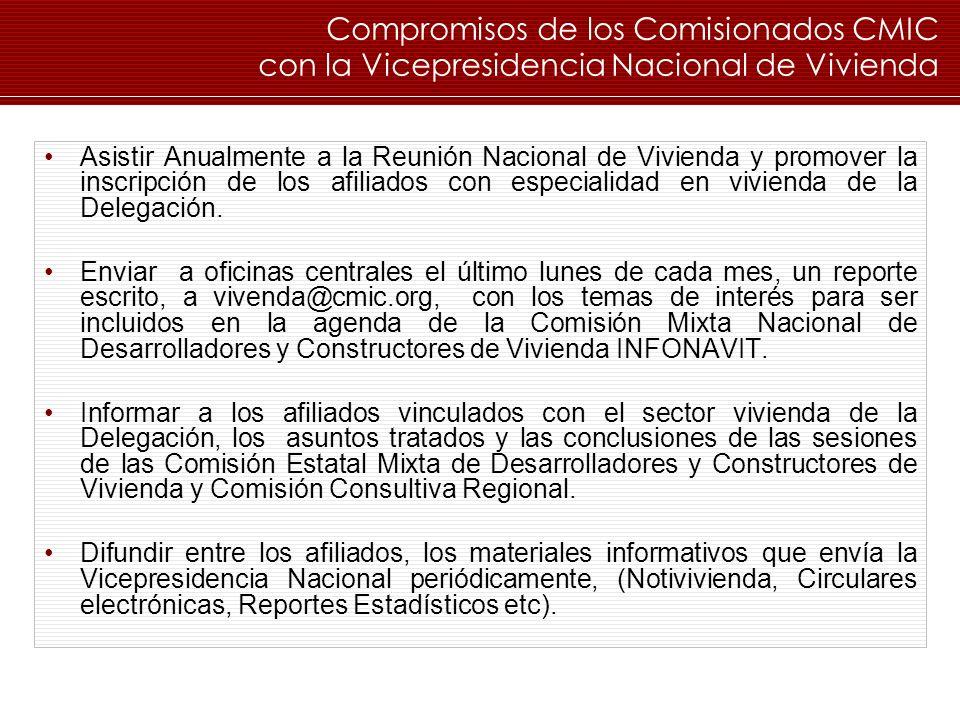 Compromisos de los Comisionados CMIC