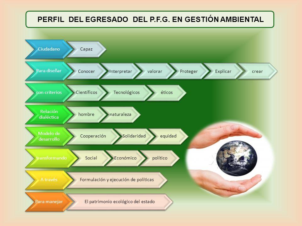 PERFIL DEL EGRESADO DEL P.F.G. EN GESTIÓN AMBIENTAL