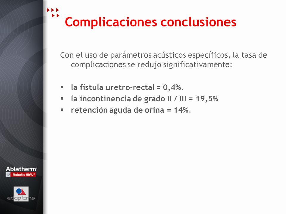 Complicaciones conclusiones