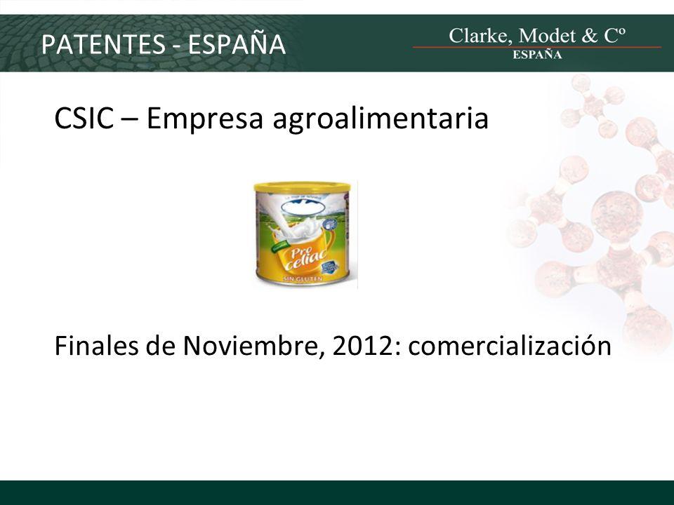 CSIC – Empresa agroalimentaria
