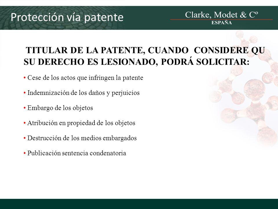 Protección vía patente