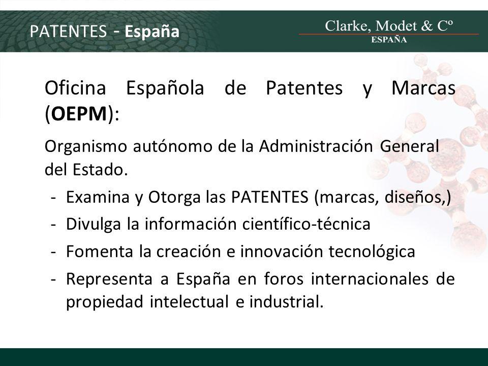 Oficina Española de Patentes y Marcas (OEPM):