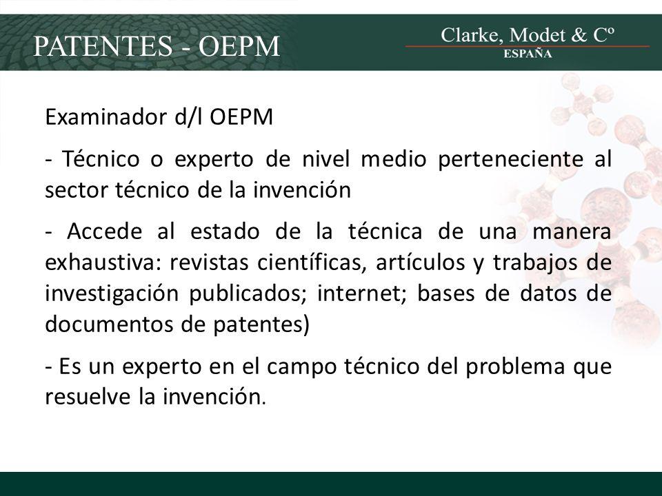PATENTES - OEPM Examinador d/l OEPM