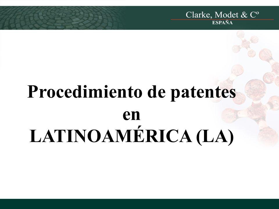 Procedimiento de patentes en